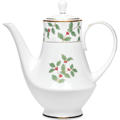 Noritake Holly and Berry Gold Coffee Server