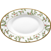 Noritake Holly & Berry Gold Butter/Relish Tray