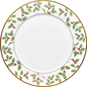 Noritake Holly and Berry Gold Dinner Plate