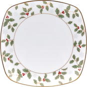 Noritake Holly & Berry Gold Square Accent Plate