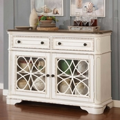 Furniture of America Leslie 2 Drawer Side Server