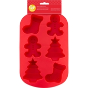 Wilton's Non-Stick 6 Cavity Holiday Shape Silicone Mold