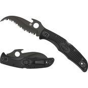 Spyderco C12SBBK2W Matriarch 2 Lightweight Black Blade Folding Knife