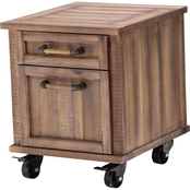 Kathy Ireland Home Crossings File Cabinet with Casters