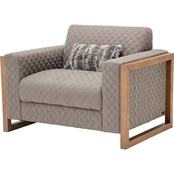 Kathy Ireland Home Hudson Ferry Collection Chair and Half, Slate