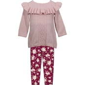 Bonnie Jean Infant Girls Ruffle Sweater and Leggings 2 pc. Set