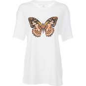 Rebellious One Juniors Butterfly Screen Tee