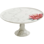 Martha Stewart Collection Fine Ceramic Peony Cake Stand 10.75 in