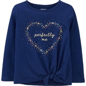 Carter's Toddler Girls Perfectly Me Tie Front Jersey Tee