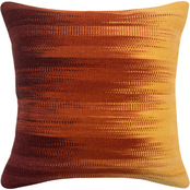 Rizzy Home Wool Stripe Red Zipper Closure Polyester Filled Pillow, 20 in. x 20 in.