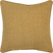 Rizzy Home Solid Gold Polyester Filled Pillow, 20 in. x 20 in.