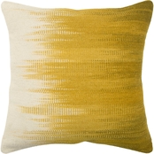 Rizzy Home Stripe Yellow 20 in. x 20 in.  Zipper Closure Polyester Filled Pillow