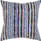 Rizzy Home Stripe 20 x 20 in. Polyester Pillow