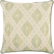 Rizzy Home Diamond Green Polyester Filled Pillow 22 in. x 22 in.