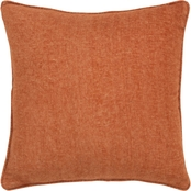Rizzy Home Solid Orange Polyester Filled Pillow