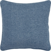 Rizzy Home Solid Blue 20 x 20 in. Pillow