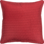 Rizzy Home Solid Deep Red Polyester Filled Pillow