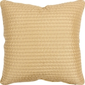 Rizzy Home Solid Gold 22 in. x 22 in. Zipper Closure Polyester Filled Pillow