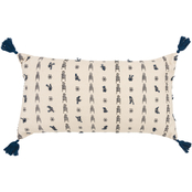 Rizzy Home Geometric Dark Blue Polyester Filled Pillow