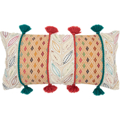 Rizzy Home Diamond Dark Coral 14 x 26 in. Pillow