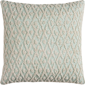 Rizzy Home Geometric Mint Square Decorative Throw Pillow
