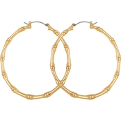 Guess Goldtone Large Fashion Hoop Earrings