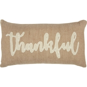 Rizzy Home Word Natural  14 x 26 in. Pillow