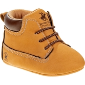 Beverly Hills Polo Club Infant Boys Booties with Padded Collar