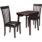 Signature Design by Ashley Hammis 3 pc. Set: Drop Leaf Table, 2 Side Chairs