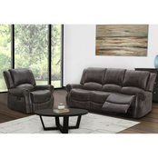 Abbyson Baldwin Reclining Sofa and Chair Set