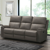 Abbyson Jasper Collection Top Grain Leather Reclining Sofa