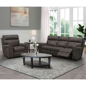 Abbyson Lachlan Fabric Reclining Sofa and Chair