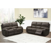 Abbyson Harvey Fabric Reclining Sofa and Loveseat