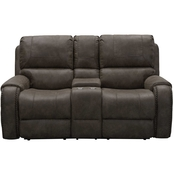 Abbyson Harvey Collection Fabric Reclining Loveseat