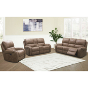 Abbyson Harvey Collection Fabric Reclining 3 pc. Set