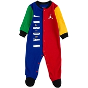 Jordan Infant Boys Color Blocked Footed Coveralls