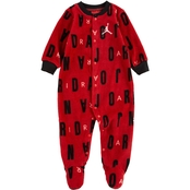 Jordan Infant Boys Letter Toss Footed Coveralls