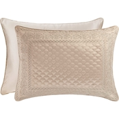 J. Queen New York Zilara Quilted Sham, King, Taupe