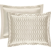 J. Queen New York Satinique Natural King Quilted Sham