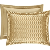 J. Queen New York Satinique Gold Standard Quilted Sham