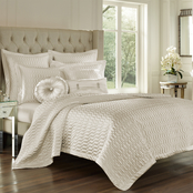 J. Queen New York Satinique Natural Coverlet
