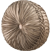 J. Queen New York Bradshaw Natural Tufted Round Decorative Throw Pillow