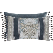 J. Queen New York Crystal Palace French Blue Boudoir Decorative Throw Pillow
