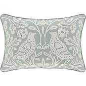 J. Queen New York Garden View Spa Boudoir Decorative Throw Pillow