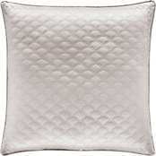 J. Queen New York Zilara Silver 20 in. Square Decorative Throw Pillow