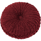 J. Queen New York Taormina Red Tufted Round Decorative Throw Pillow