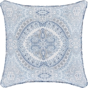 Royal Court Claremont Blue 16 in. Square Decorative Throw Pillow