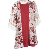 Wallflower Juniors Swing Dress with Kimono