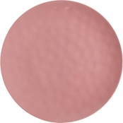 Gibson Home Tropical Sway 11 in. Pink Hammered Melamine Dinnerware