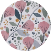 Gibson Home Tropical Sway 9 in. Floral Hammered Melamine Dinnerware